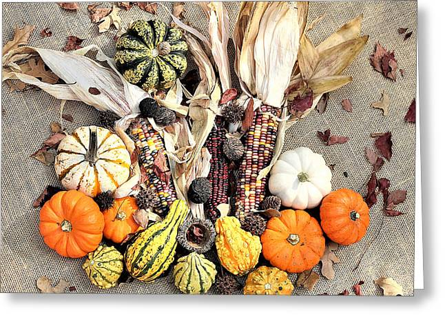 Greeting Card featuring the photograph Fall Harvest by Sheila Brown