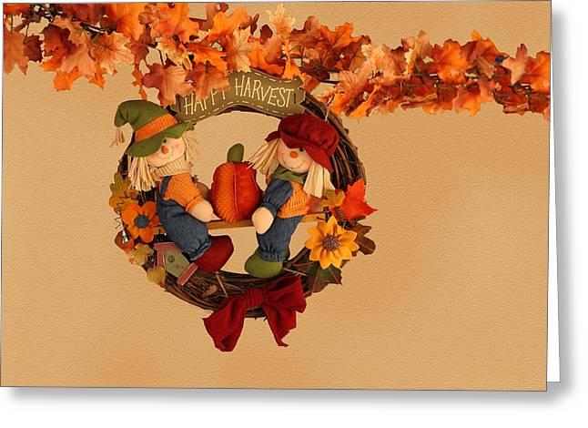 Fall Harvest Wreath Greeting Card