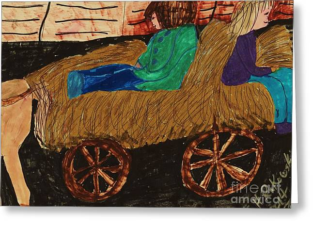 Fall Hayride Greeting Card