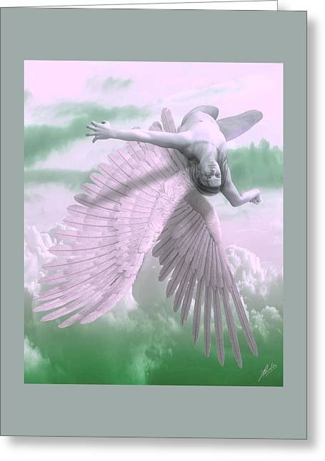 Fall Of Icarus - Cool Tones Greeting Card