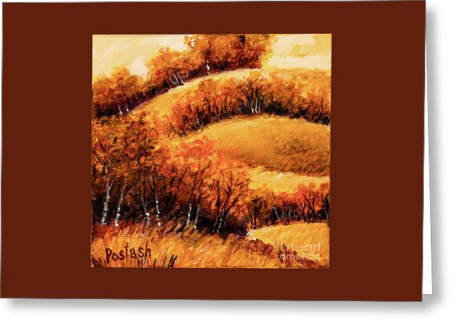 Greeting Card featuring the painting Fall by Igor Postash