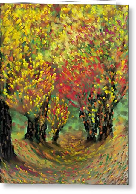 Fall Impression Greeting Card by Harry Dusenberg