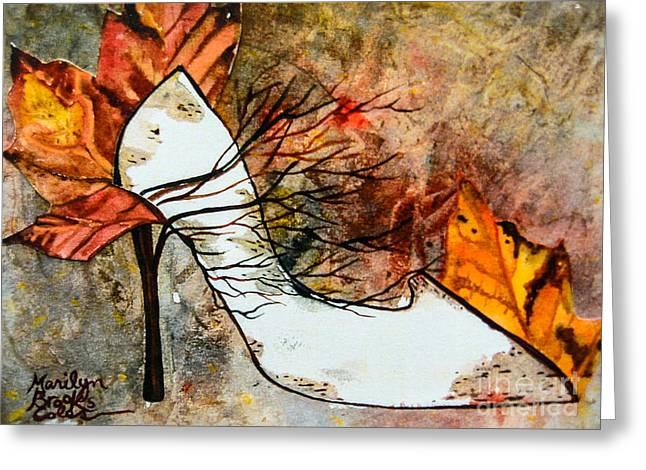 Fall In Art Greeting Card