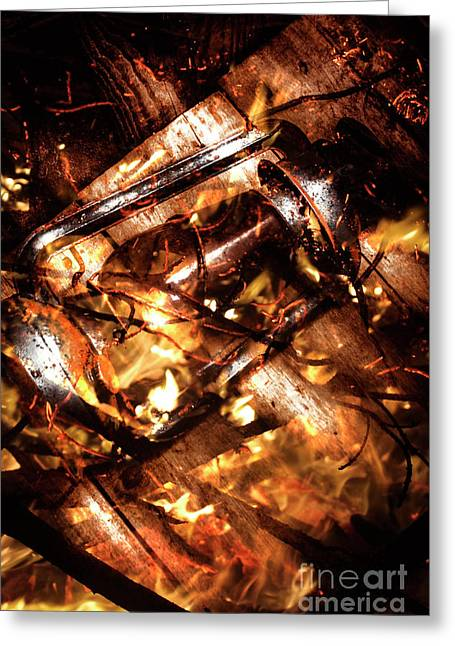 Fall In Fire Greeting Card by Jorgo Photography - Wall Art Gallery