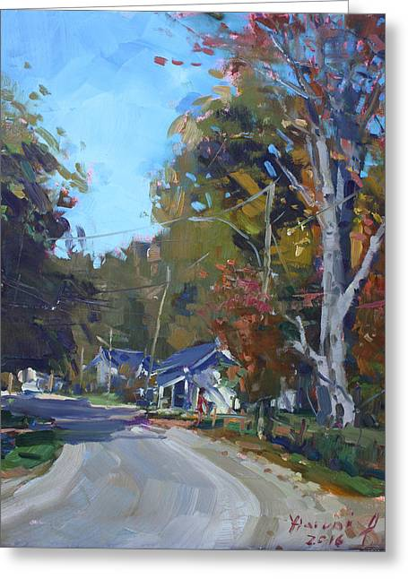 Fall In Glen Williams On Greeting Card by Ylli Haruni