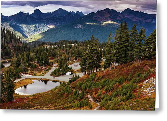 Fall In North Cascades Greeting Card by Marina Yesakova