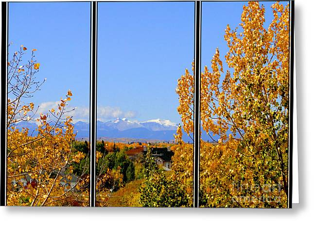 Fall In The Rockies - Triptych Greeting Card