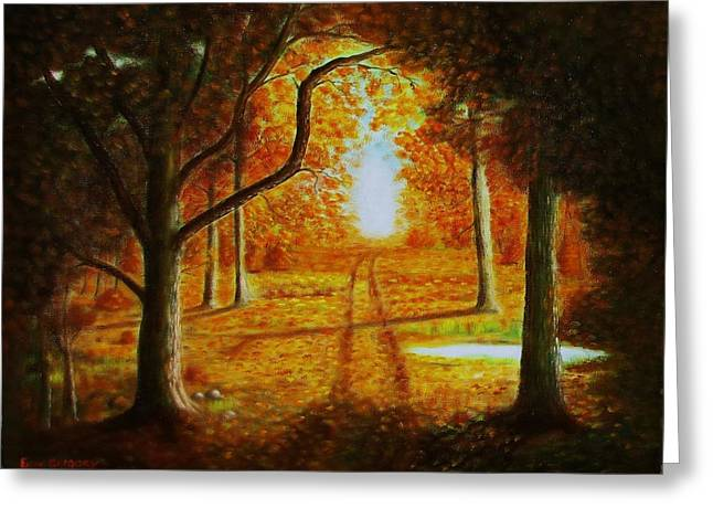 Fall In The Woods Greeting Card