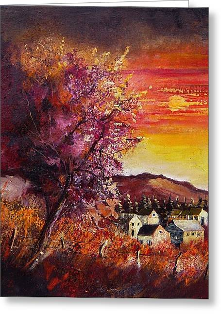 Fall In Villers Greeting Card by Pol Ledent