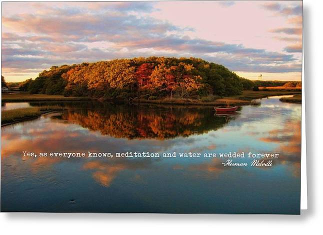 Fall In Wellfleet Quote Greeting Card by JAMART Photography