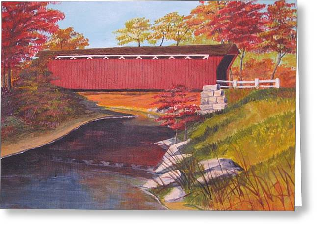 Fall Is In The Air Greeting Card by CB Woodling