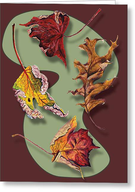 Fall Leaves Card Greeting Card