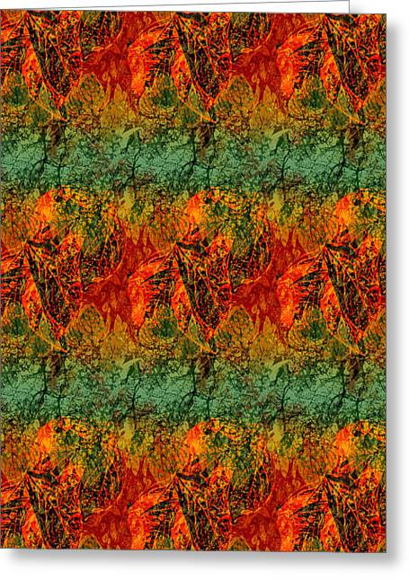 Fall Leaves Collage Greeting Card
