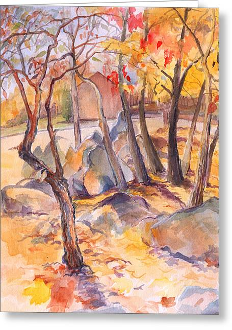 Fall Light 2 Greeting Card by Nancy Watson