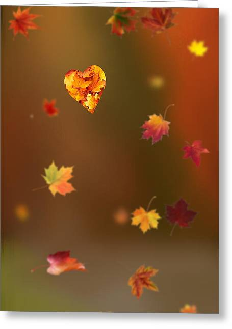 Fall Love Greeting Card by Art Spectrum