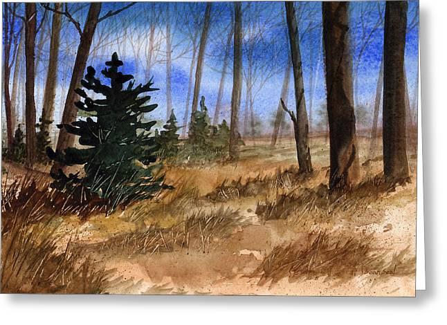 Fall Meadow Greeting Card by Sean Seal