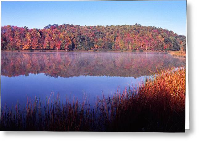 Webster County Greeting Cards - Fall Morning on the Lake Greeting Card by Thomas R Fletcher