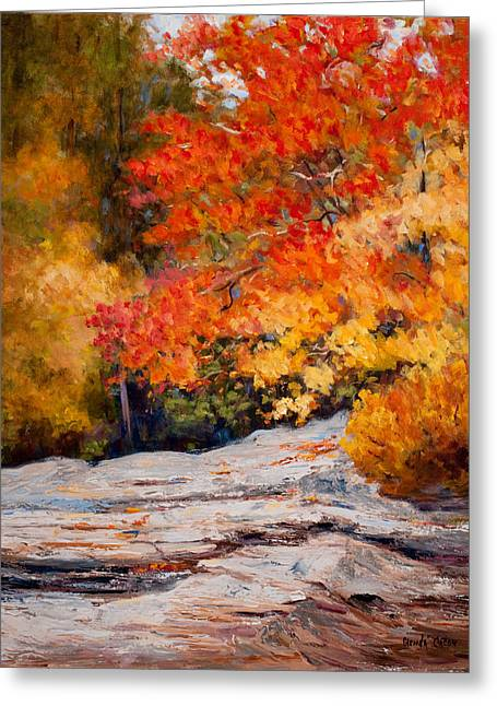 Fall Mountain Foliage Greeting Card