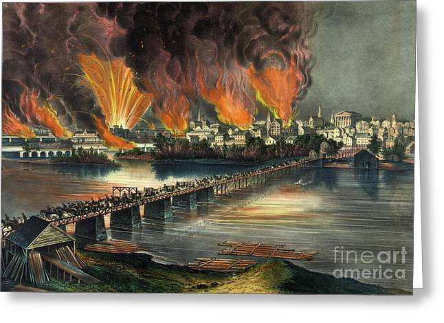 Fall Of Richmond Greeting Card by American School
