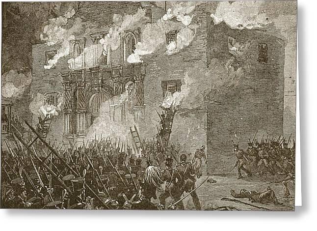 Fall Of The Alamo Greeting Card