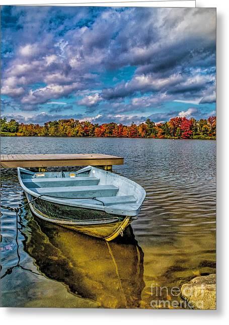 Fall On Alloway Lake Greeting Card