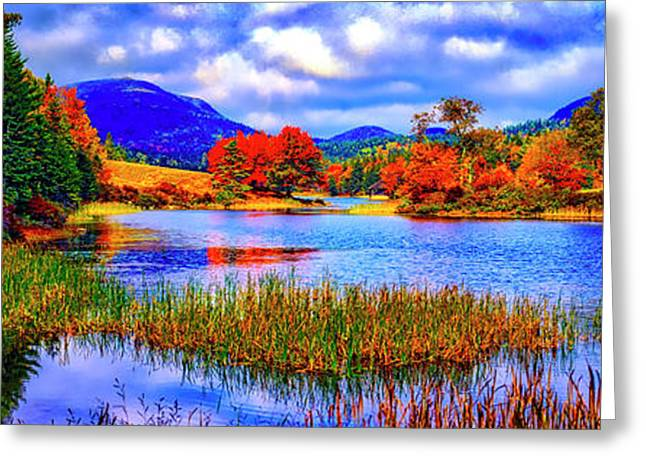 Fall On Long Pond Acadia National Park Maine  Greeting Card
