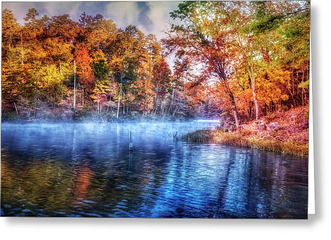 Greeting Card featuring the photograph Fall On The Lake by Debra and Dave Vanderlaan