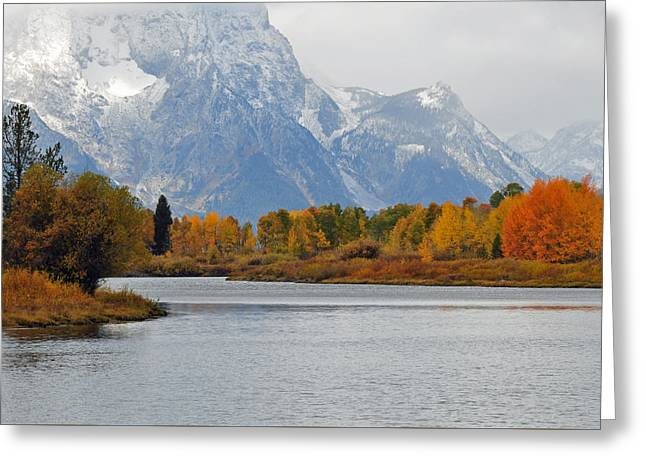 Fall On The Snake River In The Grand Tetons Greeting Card