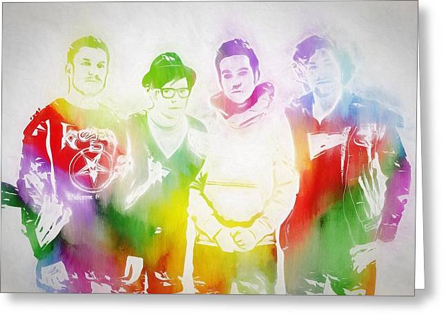 Fall Out Boy Greeting Card by Dan Sproul