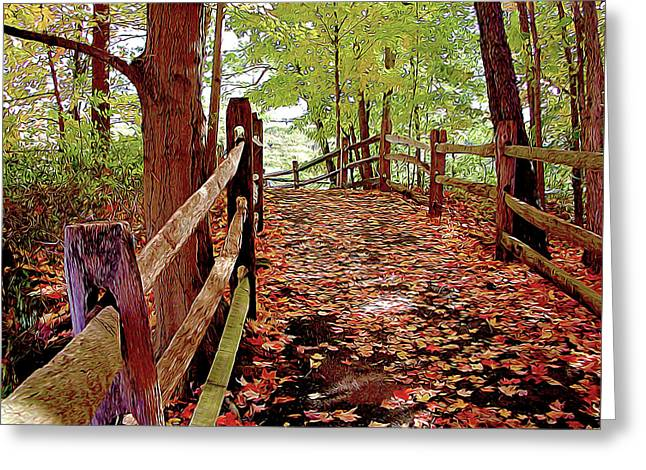 Fall Pathway Greeting Card