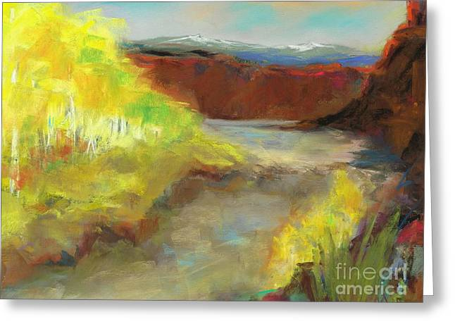 Fall Ponds Greeting Card by Frances Marino