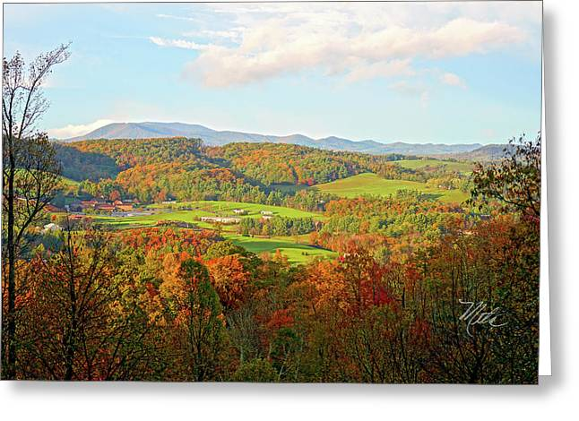 Fall Porch View Greeting Card