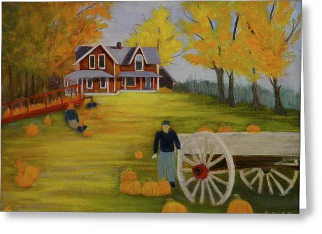 Fall Pumpkin Harvest Greeting Card