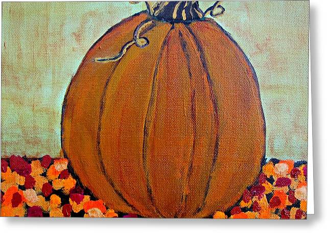 Fall Pumpkin Greeting Card