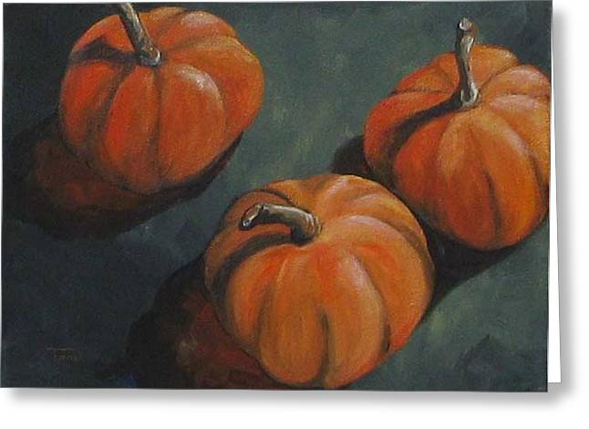 Fall Pumpkins  Greeting Card by Torrie Smiley
