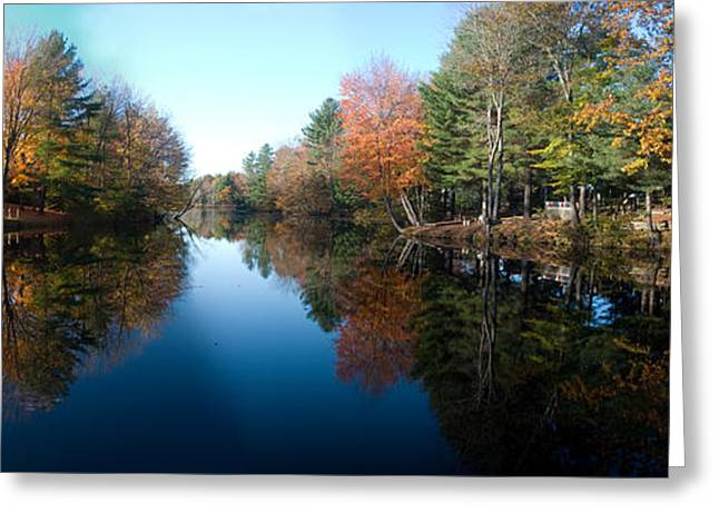 Fall Reflections Greeting Card by David Bishop