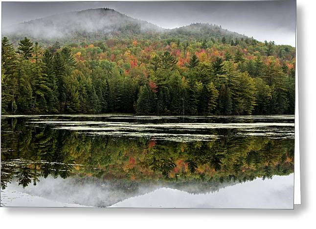 Fall Reflections In The Adirondack Mountains Greeting Card by Brendan Reals