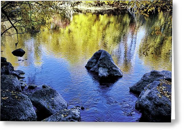 Fall Reflections Odessa Creek Greeting Card