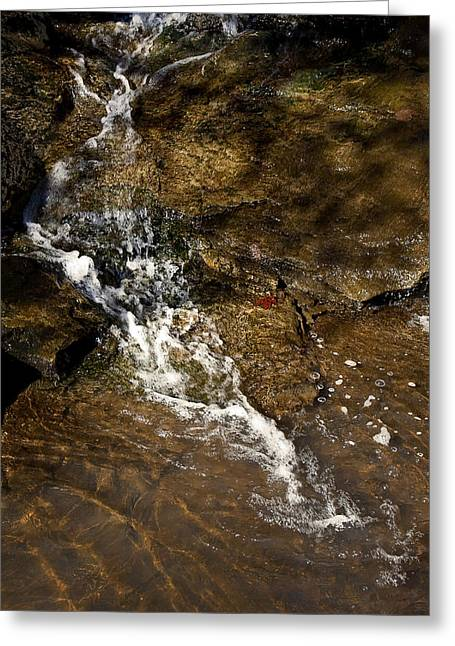 Greeting Card featuring the photograph Fall Runoff At Broadwater Falls by Michael Dougherty