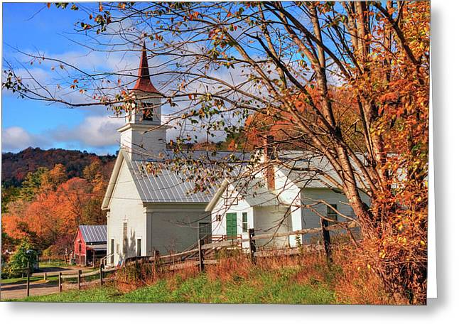 Fall Scene - North Tunbridge Vermont Greeting Card by Joann Vitali