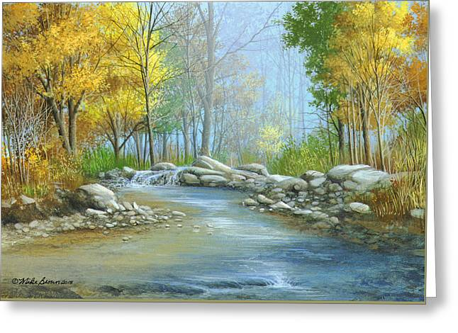 Fall Solitude Greeting Card by Mike Brown