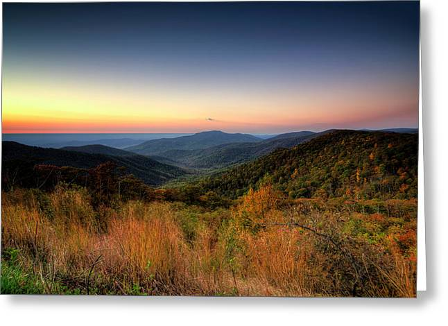 Greeting Card featuring the photograph Fall Sunrise by Ryan Wyckoff