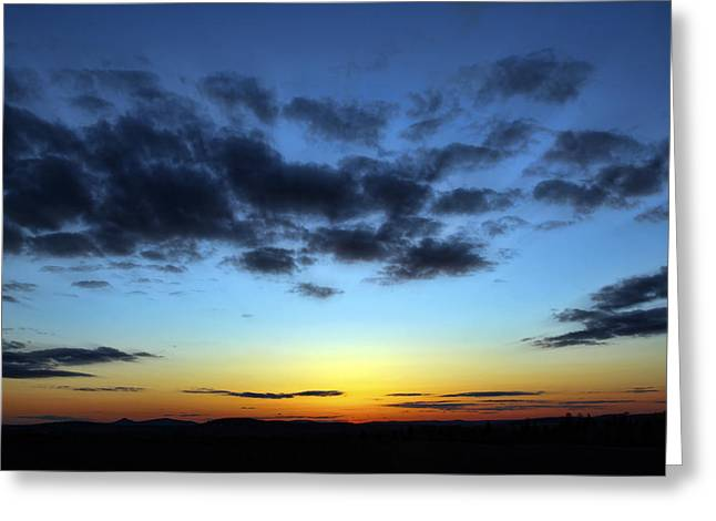 Greeting Card featuring the photograph Fall Sunset by Gary Smith