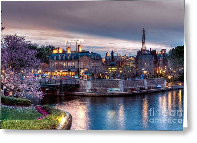 Fall Sunset Of France Greeting Card