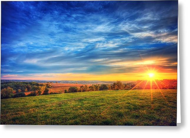Fall Sunset - Retzer Nature Center - Waukesha Greeting Card by Jennifer Rondinelli Reilly - Fine Art Photography