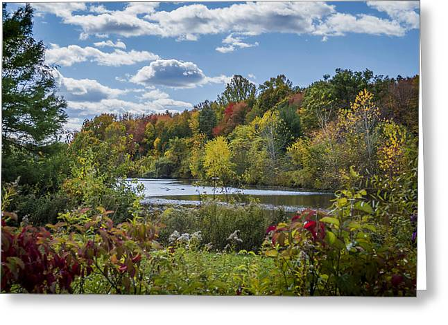 Fall Time On The Lake Greeting Card