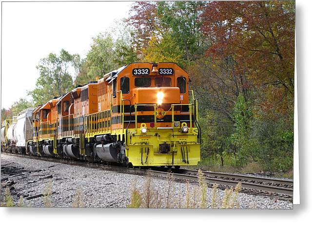 Fall Train In Color Greeting Card