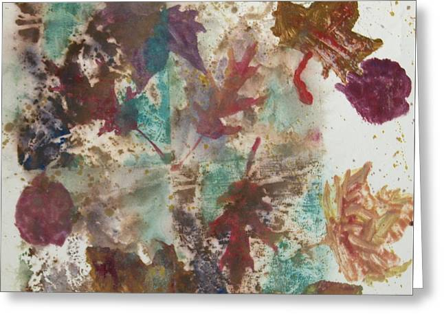 Fall Treasures Greeting Card by Claudia Smaletz