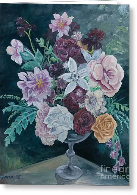 Fall Vase Greeting Card by Jana Goode