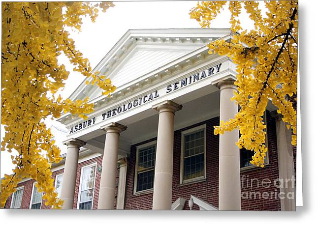 Fall View Of Asbury  Greeting Card by Angie Bechanan